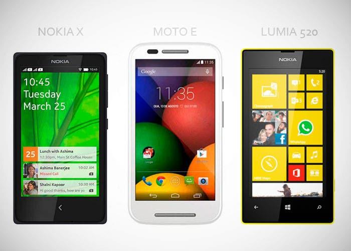 Nokia X vs Moto E vs Lumia 520