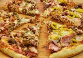 Fotografía de una pizza