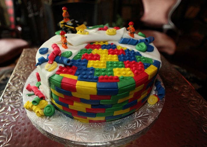 Tarta inspirada por LEGO