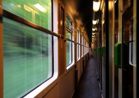 Pasillo de un tren francés