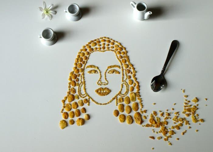 Alicia Keys en cornflakes