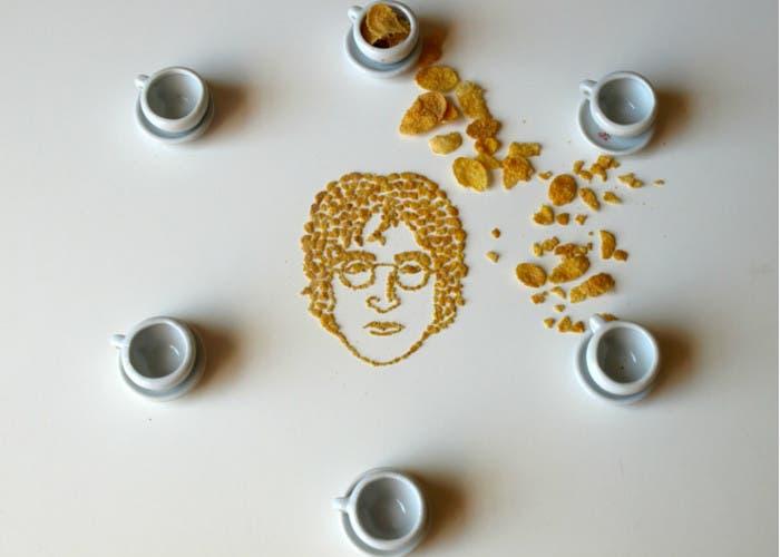 John Lennon en cornflakes