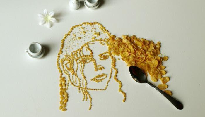 Michael Jackson en cornflakes