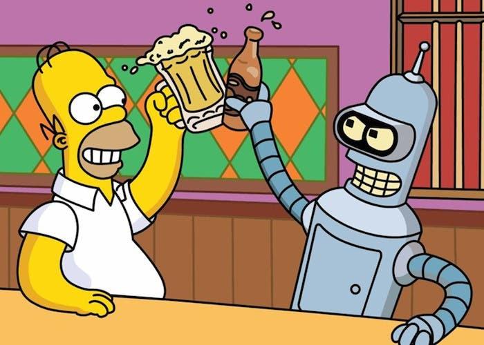 Futurama se cruza con The Simpsons