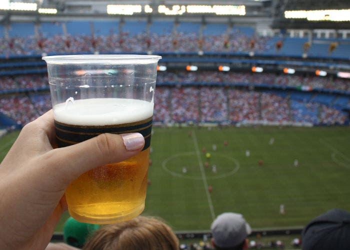 Cerveza en un estadio de fútbol