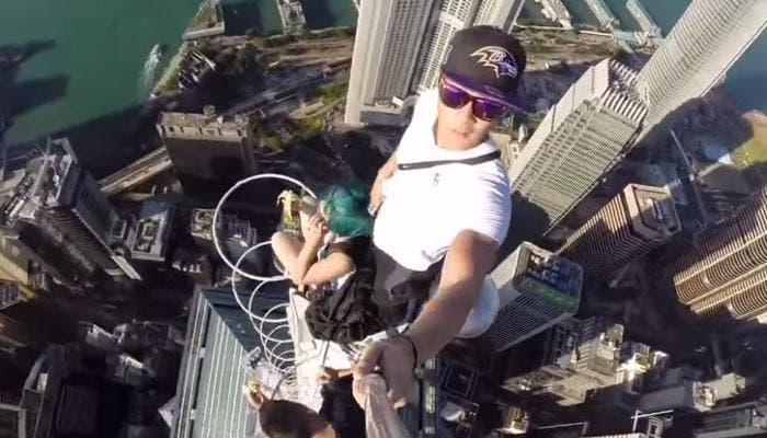 Selfie en un rascacielos