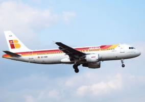 Avion de Iberia en pleno vuelo