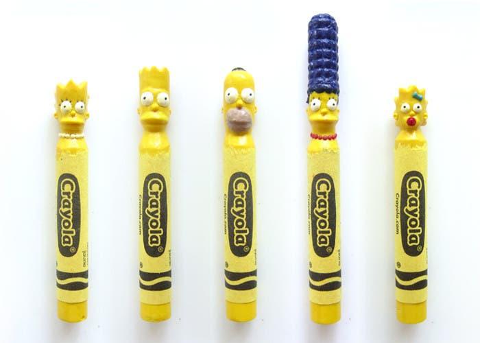 Ceras esculpidas de Los Simpson