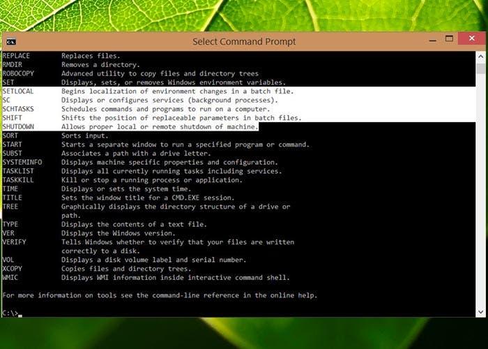 Linea de comandos Windows 10