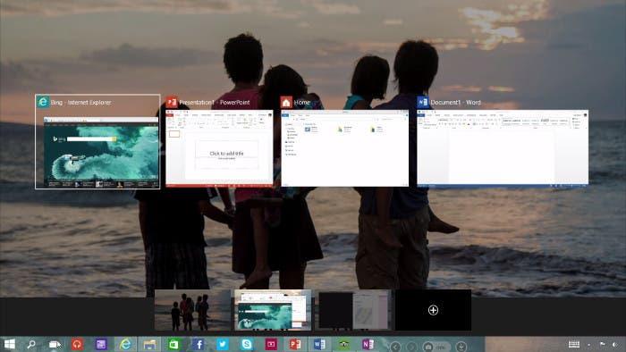 Multitarea de Windows 10