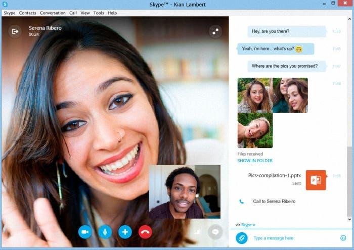 Skype Moderno Llamada