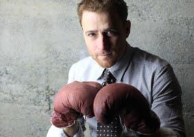 Ejecutivo boxeador