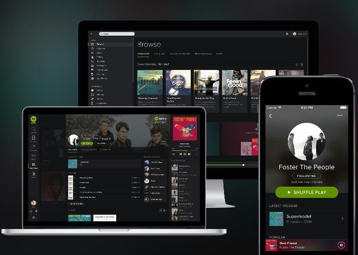 Dispositivos con Spotify