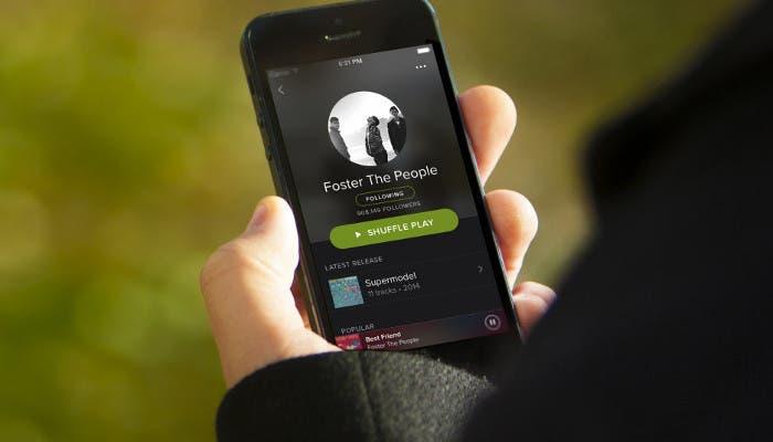 Spotify en iPhone