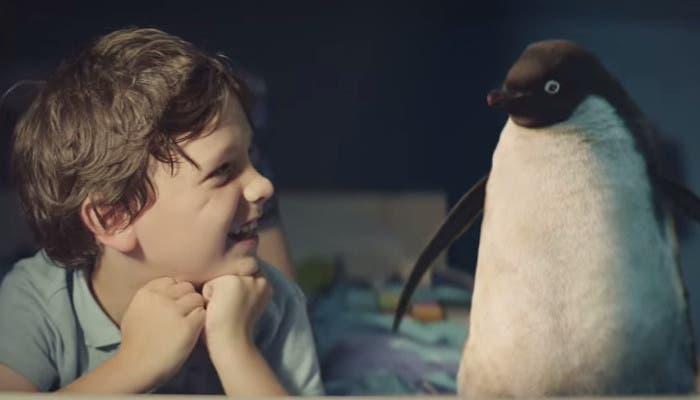 Niño con su pingüino