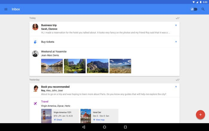 Inbox by Gmail para tablet