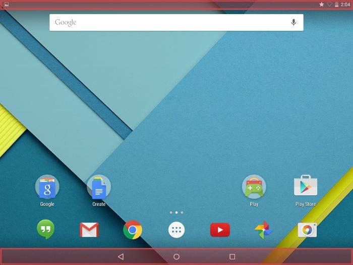 Interfaz de Android en tablets