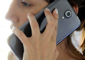 Un smartphone Samsung Galaxy Mega