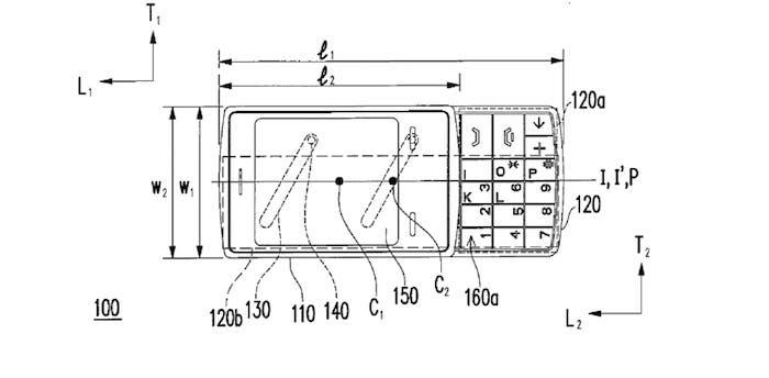 patente teclado deslizante