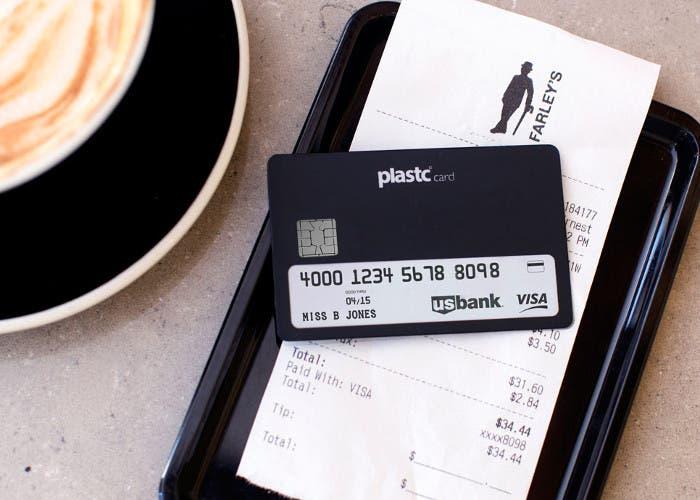 Tarjeta de crédito universal Plastc