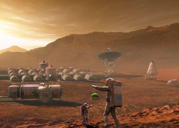 Poblado en Marte
