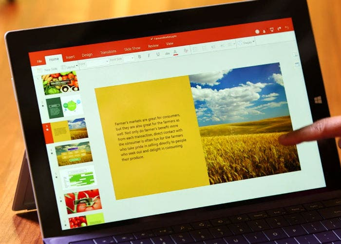 Microsoft Office en Windows 10-tactil