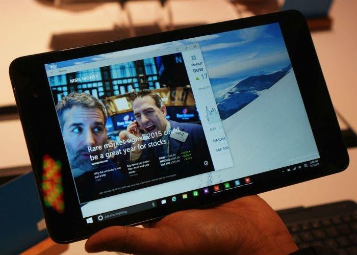 Windows 10 en una tablet
