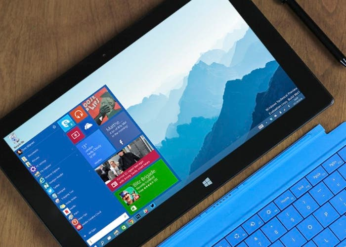 Windows 10 en una Microsoft Surface