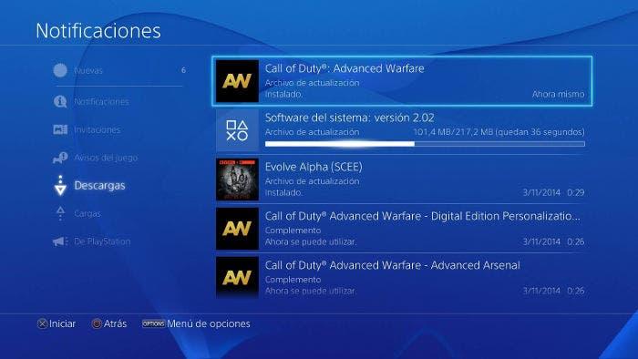 Actualización de software de PlayStation 4
