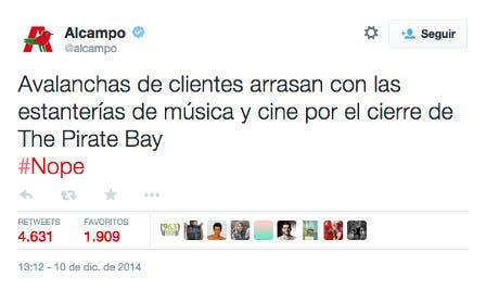 Tweet de @alcampo