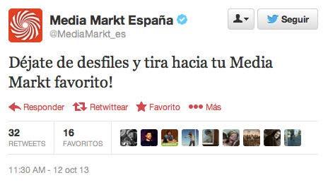 Tweet de @MediaMarkt_es 1