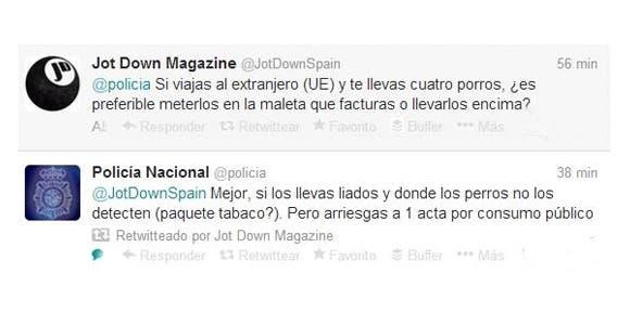 Tweet de @policia