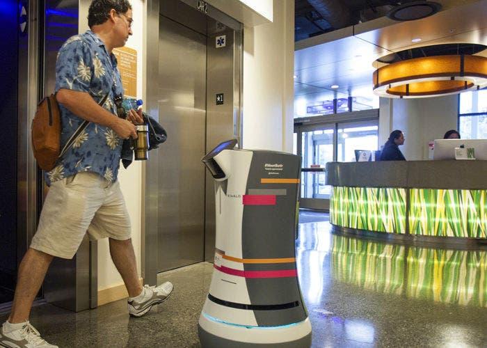 Robot en un hotel