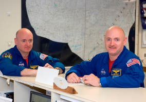 Plano general de Mark y Scott Kelly