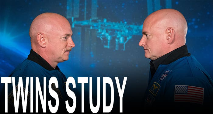 Gemelos Mark y Scott Kelly del estudio de la NASA