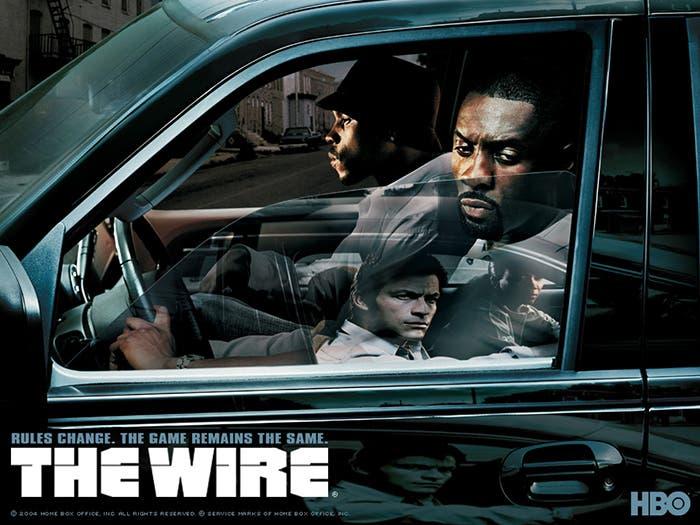 Cartel promocional de The Wire