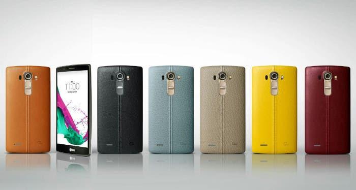 Snartphone LG G4 en distintos colores