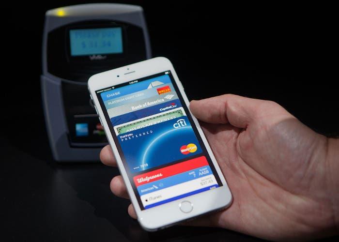 Pago móvil por NFC en un smartphone