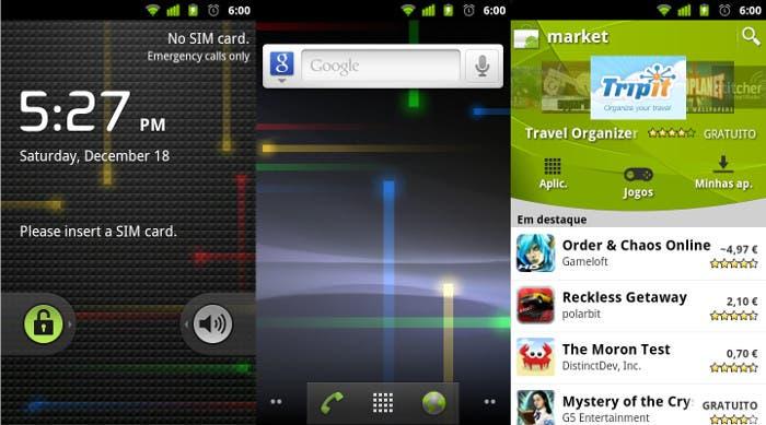 Capturas de Android 2.3 Gingerbread