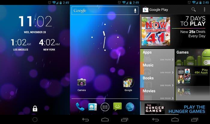 Capturas de Android 4.0 Ice Cream Sandwich