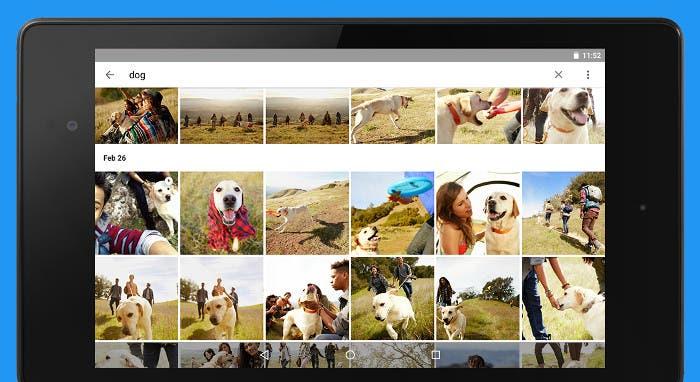 App de Google- Fotos en una tablet Android