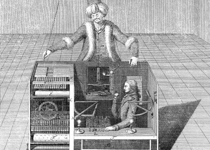 Turco mecánico, un falso autómata del siglo XVIII