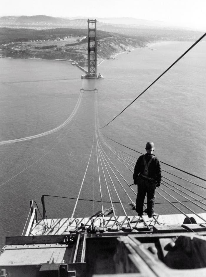 Así se construyó el Golden Gate de San Francisco