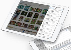 Tablet iPad con el sistema operativo iOS 9