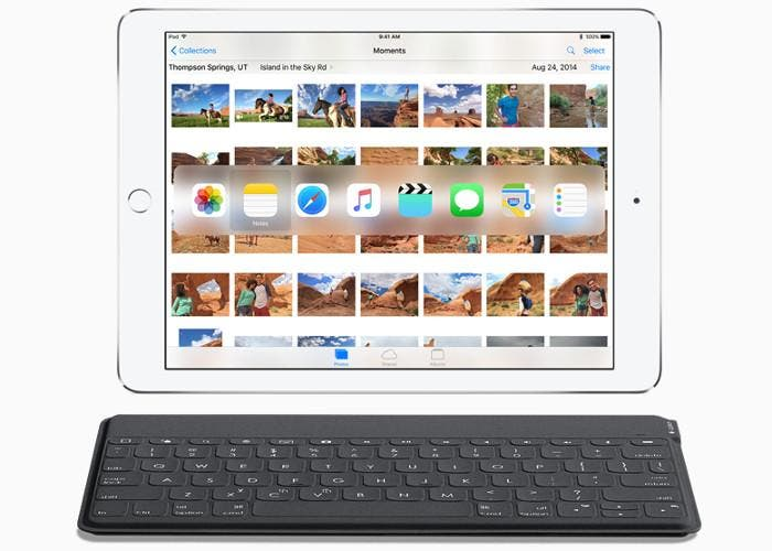 iPad con el teclado QuickType