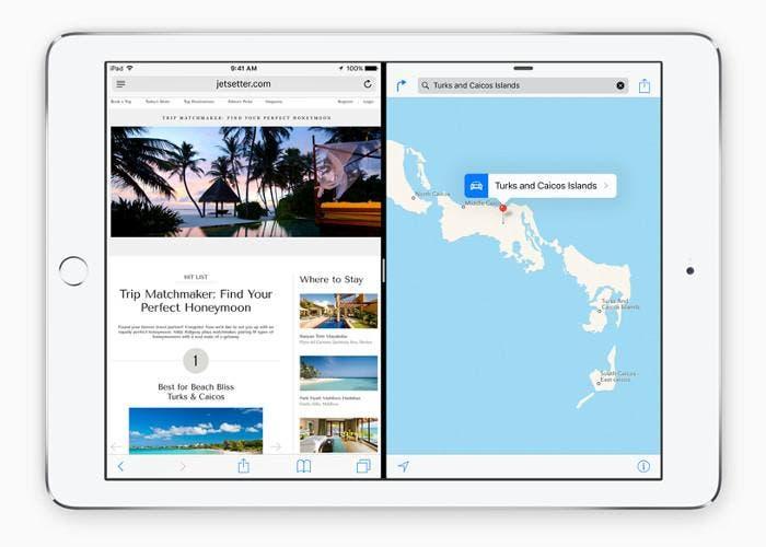 Función de Split View en el iPad Air 2