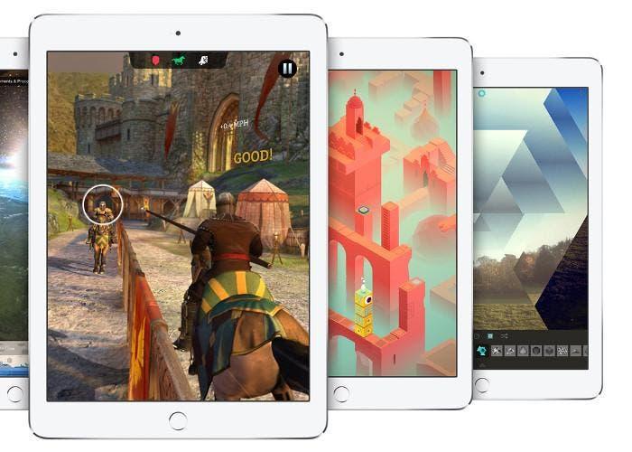 Juegos en una tablet iPad
