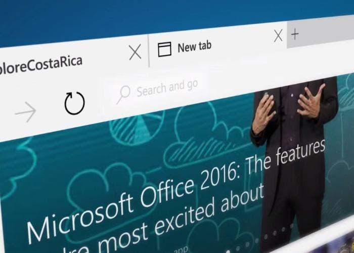 El navegador web Microsoft Edge