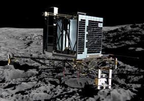 La sonda aterriza sobre el cometa 67P