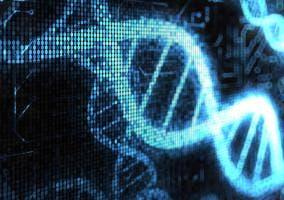 Imagen de una ristra de ADN